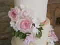 Sugar David Austin roses and foliage details