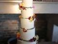 edible flowers buttercream wedding cake