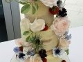 garden wedding semi naked cake