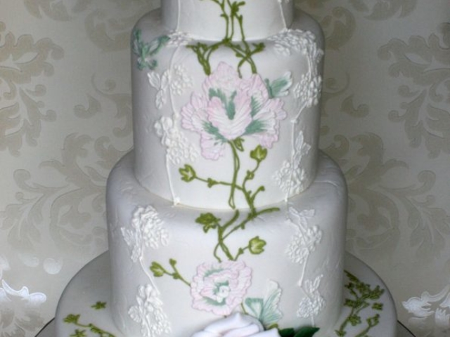 Claire Pettibone inspired wedding cake